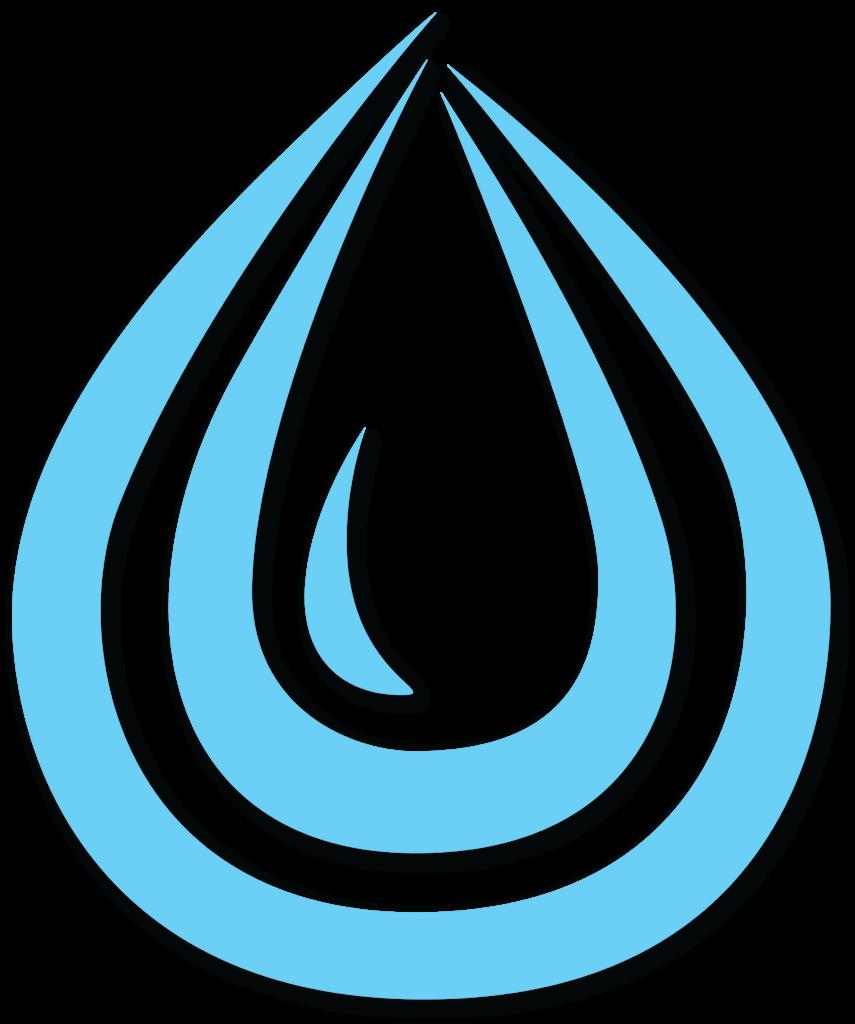 aqua smart Icon blau mit Schatten